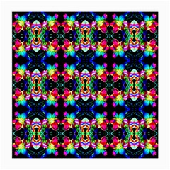 Colorful Bright Seamless Flower Pattern Medium Glasses Cloth (2 Side) by Costasonlineshop