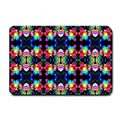 Colorful Bright Seamless Flower Pattern Small Doormat  by Costasonlineshop