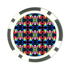 Colorful Bright Seamless Flower Pattern Poker Chip Card Guard by Costasonlineshop