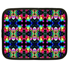 Colorful Bright Seamless Flower Pattern Netbook Case (large) by Costasonlineshop