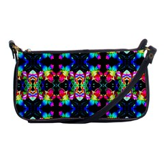 Colorful Bright Seamless Flower Pattern Shoulder Clutch Bags by Costasonlineshop