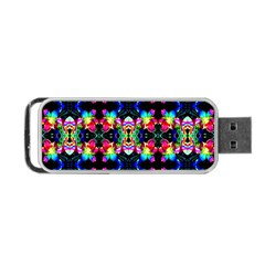Colorful Bright Seamless Flower Pattern Portable Usb Flash (two Sides) by Costasonlineshop