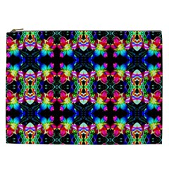 Colorful Bright Seamless Flower Pattern Cosmetic Bag (xxl)  by Costasonlineshop