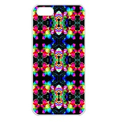 Colorful Bright Seamless Flower Pattern Apple Iphone 5 Seamless Case (white) by Costasonlineshop