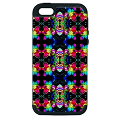 Colorful Bright Seamless Flower Pattern Apple Iphone 5 Hardshell Case (pc+silicone) by Costasonlineshop