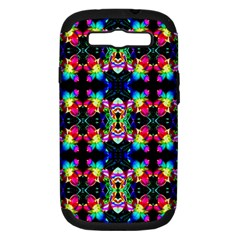 Colorful Bright Seamless Flower Pattern Samsung Galaxy S Iii Hardshell Case (pc+silicone) by Costasonlineshop