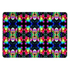 Colorful Bright Seamless Flower Pattern Samsung Galaxy Tab 10 1  P7500 Flip Case