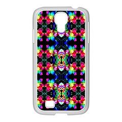Colorful Bright Seamless Flower Pattern Samsung Galaxy S4 I9500/ I9505 Case (white) by Costasonlineshop