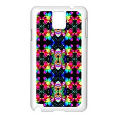 Colorful Bright Seamless Flower Pattern Samsung Galaxy Note 3 N9005 Case (white) by Costasonlineshop