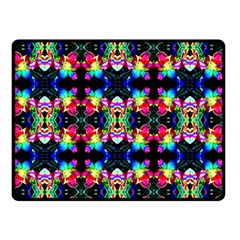 Colorful Bright Seamless Flower Pattern Double Sided Fleece Blanket (small)  by Costasonlineshop