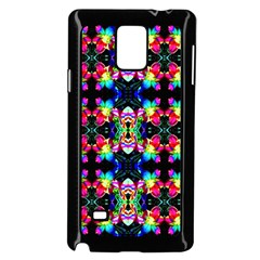 Colorful Bright Seamless Flower Pattern Samsung Galaxy Note 4 Case (black) by Costasonlineshop