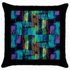 Abstract Square Wall Throw Pillow Case (black) by Costasonlineshop