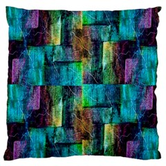 Abstract Square Wall Large Flano Cushion Case (one Side) by Costasonlineshop
