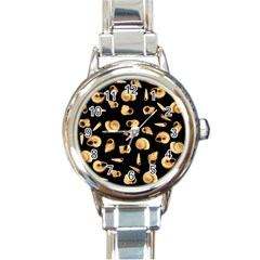 Shell Pattern Round Italian Charm Watch by Valentinaart