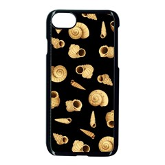Shell Pattern Apple Iphone 7 Seamless Case (black) by Valentinaart
