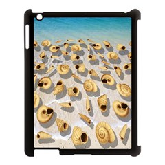 Shell Pattern Apple Ipad 3/4 Case (black) by Valentinaart