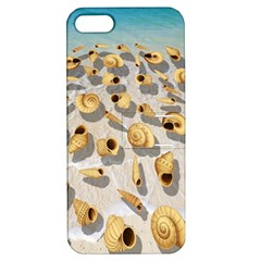 Shell Pattern Apple Iphone 5 Hardshell Case With Stand by Valentinaart