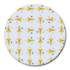 Spaceships Pattern Round Mousepads by linceazul