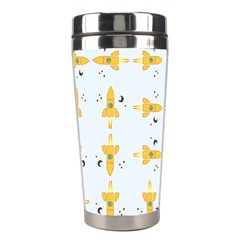 Spaceships Pattern Stainless Steel Travel Tumblers by linceazul