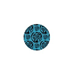 Turquoise Pattern 1  Mini Buttons by linceazul