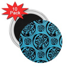 Turquoise Pattern 2 25  Magnets (10 Pack)  by linceazul