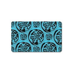 Turquoise Pattern Magnet (name Card) by linceazul