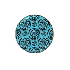 Turquoise Pattern Hat Clip Ball Marker (10 Pack) by linceazul