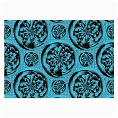 Turquoise Pattern Large Glasses Cloth (2 Side) by linceazul