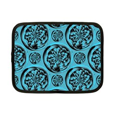 Turquoise Pattern Netbook Case (small)  by linceazul