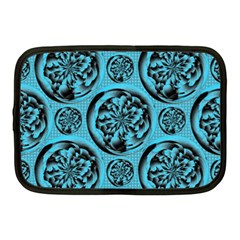 Turquoise Pattern Netbook Case (medium)  by linceazul
