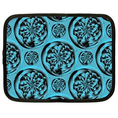 Turquoise Pattern Netbook Case (xl)  by linceazul