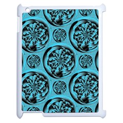 Turquoise Pattern Apple Ipad 2 Case (white) by linceazul