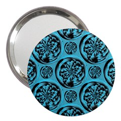 Turquoise Pattern 3  Handbag Mirrors by linceazul