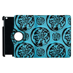 Turquoise Pattern Apple Ipad 3/4 Flip 360 Case by linceazul