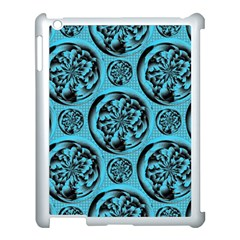 Turquoise Pattern Apple Ipad 3/4 Case (white) by linceazul