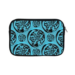 Turquoise Pattern Apple Ipad Mini Zipper Cases by linceazul