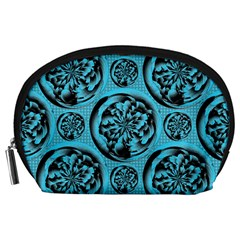Turquoise Pattern Accessory Pouches (large)  by linceazul