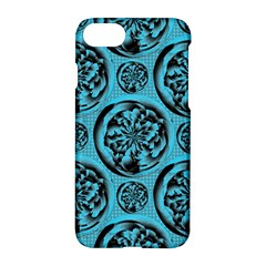 Turquoise Pattern Apple Iphone 7 Hardshell Case by linceazul