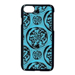Turquoise Pattern Apple Iphone 7 Seamless Case (black) by linceazul