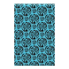 Turquoise Pattern Shower Curtain 48  X 72  (small)  by linceazul