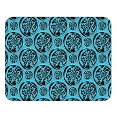 Turquoise Pattern Double Sided Flano Blanket (large)  by linceazul
