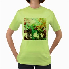 Colors Women s Green T Shirt