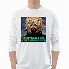 Chemtrails White Long Sleeve T Shirts by RakeClag