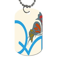Butterfly Dog Tag (two Sides) by Mariart