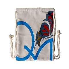 Butterfly Drawstring Bag (small) by Mariart