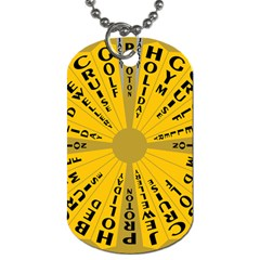 Wheel Of Fortune Australia Episode Bonus Game Dog Tag (one Side) by Mariart