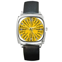 Wheel Of Fortune Australia Episode Bonus Game Square Metal Watch by Mariart