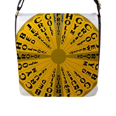 Wheel Of Fortune Australia Episode Bonus Game Flap Messenger Bag (l)