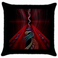 Artistic Blue Gold Red Throw Pillow Case (black) by Mariart