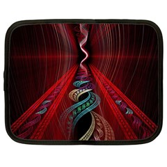 Artistic Blue Gold Red Netbook Case (large) by Mariart
